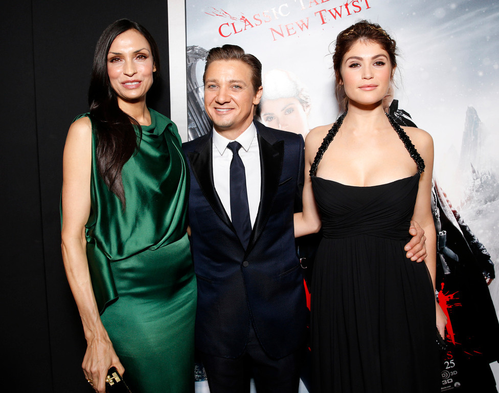 Description of . Famke Janssen, Jeremy Renner and Gemma Arterton arrive at the premiere of