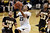 Colorado's Chucky Jeffery (23) goes for a layup over Wyoming's Marquelle Dent (10) during their NCAA college basketball game, Wednesday, Nov. 28, 2012, in Boulder, Colo. (AP Photo/The Daily Camera, Jeremy Papasso)