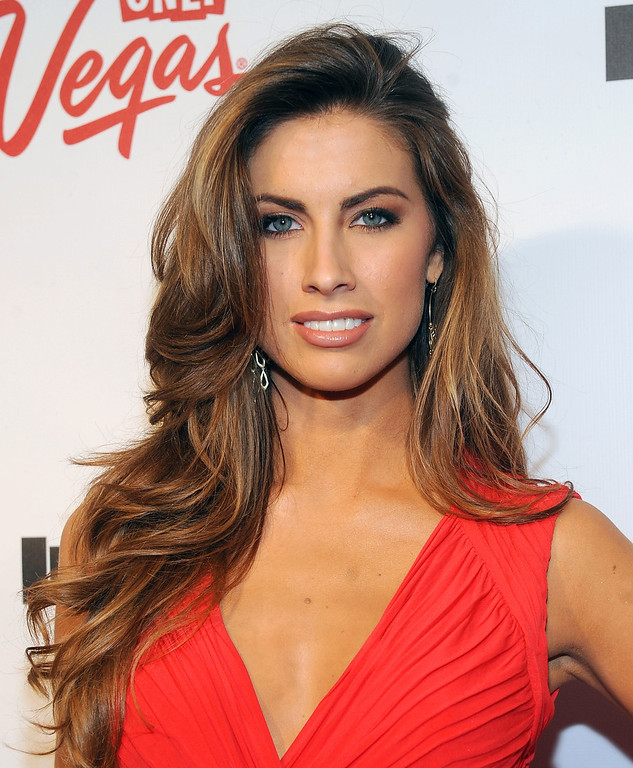Description of . Model Katherine Webb attends the 2013 Sports Illustrated Swimsuit issue launch party at Crimson on Tuesday, Feb. 12, 2013 in New York. (Photo by Brad Barket/Invision/AP)