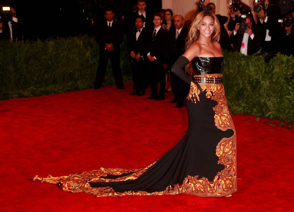 Description of . Singer Beyonce arrives at the Metropolitan Museum of Art Costume Institute Benefit celebrating the opening of
