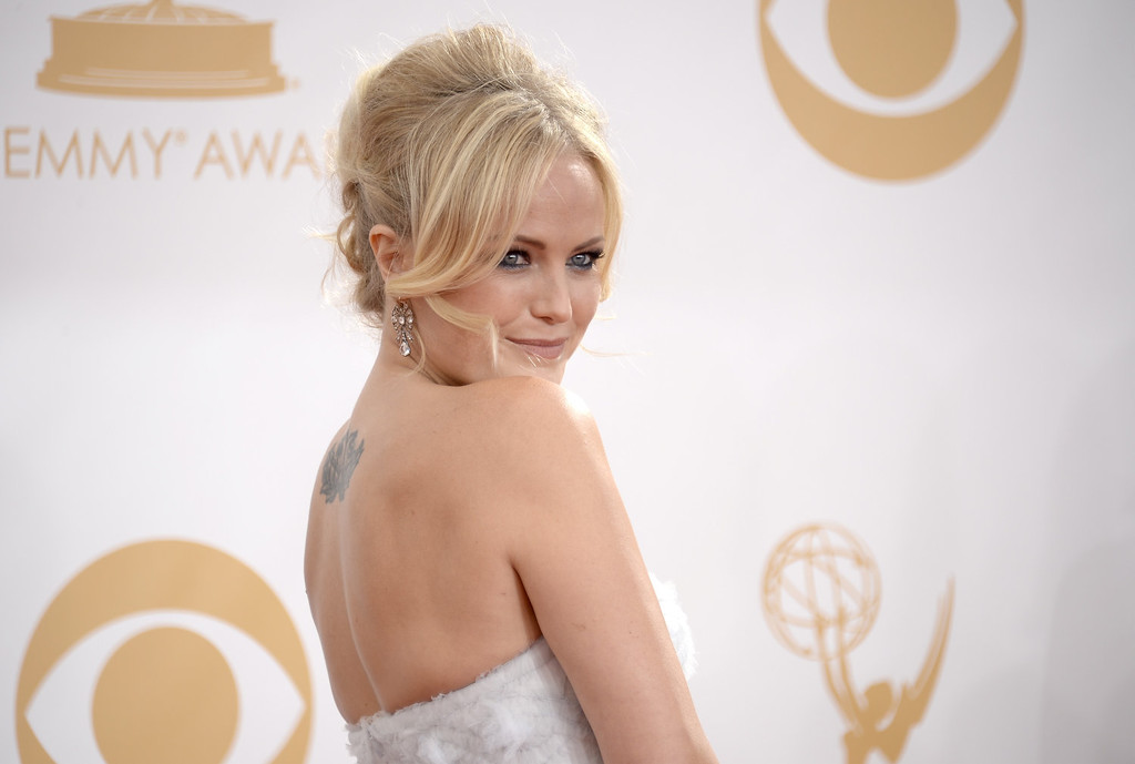 Description of . Actress Malin Akerman arrives at the 65th Annual Primetime Emmy Awards held at Nokia Theatre L.A. Live on September 22, 2013 in Los Angeles, California.  (Photo by Kevork Djansezian/Getty Images)