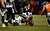 Denver Broncos running back Ronnie Hillman (21) gets taken down but gets a first down during the second half.  The Denver Broncos vs Baltimore Ravens AFC Divisional playoff game at Sports Authority Field Saturday January 12, 2013. (Photo by John Leyba,/The Denver Post)