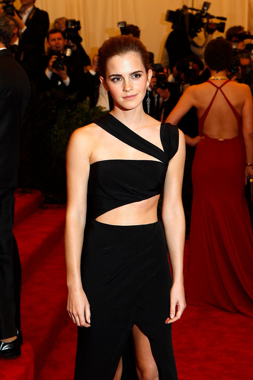 Description of . Actress Emma Watson arrives at the Metropolitan Museum of Art Costume Institute Benefit celebrating the opening of