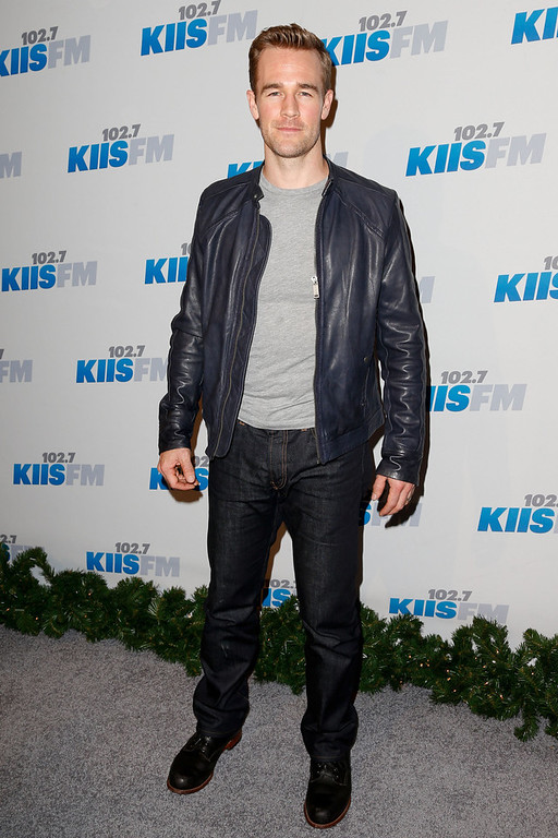 Description of . Actor James Van Der Beek attends KIIS FM\'s 2012 Jingle Ball at Nokia Theatre L.A. Live on December 3, 2012 in Los Angeles, California.  (Photo by Imeh Akpanudosen/Getty Images)
