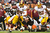 Wide receiver Santana Moss #89 of the Washington Redskins fumbles the ball during the second half against the Cleveland Browns at Cleveland Browns Stadium on December 16, 2012 in Cleveland, Ohio. The Redskins defeated the Browns 38-21. (Photo by Jason Miller/Getty Images)
