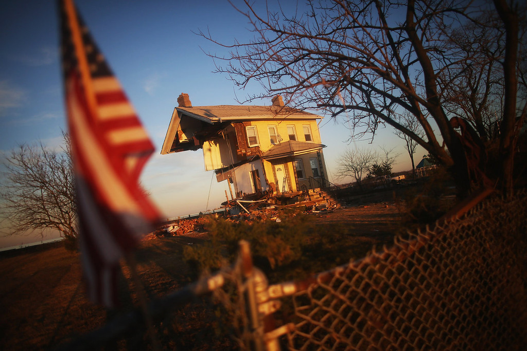 . The iconic Princess Cottage, built in 1855, remains standing after being ravaged by flooding on November 21, 2012 in Union Beach, New Jersey. Little more than half of the home remains and more than 200 homes were destroyed by Superstorm Sandy in the town.  (Photo by Mario Tama/Getty Images)