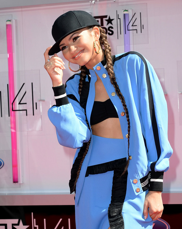Description of . Actress Zendaya attends the BET AWARDS '14 at Nokia Theatre L.A. LIVE on June 29, 2014 in Los Angeles, California.  (Photo by Earl Gibson III/Getty Images for BET)