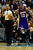 Los Angeles Lakers center Dwight Howard (12) jaws with a ref after being ejected for fouling Denver Nuggets small forward Kenneth Faried (35) during the second half of the Nuggets' 126-114 win at the Pepsi Center on Wednesday, December 26, 2012. AAron Ontiveroz, The Denver Post