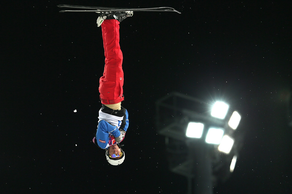 Description of . Bronze medalist Jia Zongyang of China in action during the Men's Freestyle Skiing Aerials Final at the Rosa Khutor Extreme Park during the Sochi 2014 Olympic Games, Krasnaya Polyana, Russia, on Feb. 17, 2014. EPA/SERGEY ILNITSKY