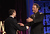 Actor Brad Garrett (R) presents an award onstage at the 2013 WGAw Writers Guild Awards at JW Marriott Los Angeles at L.A. LIVE on February 17, 2013 in Los Angeles, California.  (Photo by Maury Phillips/Getty Images for WGAw)