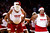 The Miami Heat Golden Oldies perform during the first half of an NBA basketball game between the Heat and the Oklahoma City Thunder, Tuesday, Dec. 25, 2012, in Miami. (AP Photo/J Pat Carter)