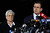 Connecticut Gov. Dan Malloy and Lt. Gov. Nancy Wyman brief the media on the elementary school shootings during a press conference at Treadwell Memorial Park on December 14, 2012 in Newtown, Connecticut. Twenty-seven are dead, including 20 children, after a gunman identified as Adam Lanza in news reports, opened fire in Sandy Hook Elementary School in Newton. Lanza also reportedly died at the scene.  (Photo by Jared Wickerham/Getty Images)