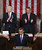 Flanked by U.S. Vice President Joe Biden (L) and Speaker of the House John Boehner (R-OH) (R), U.S. President Barack Obama (C) delivers his State of the Union speech before a joint session of Congress at the U.S. Capitol February 12, 2013 in Washington, DC. Facing a divided Congress, Obama focused his speech on new initiatives designed to stimulate the U.S. economy and said, 