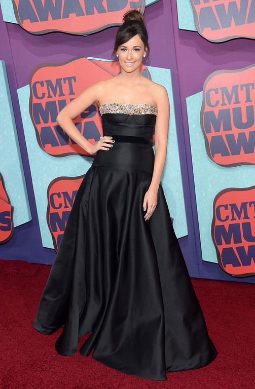 Description of . Kacey Musgraves attends the 2014 CMT Music awards at the Bridgestone Arena on June 4, 2014 in Nashville, Tennessee.  (Photo by Michael Loccisano/Getty Images)