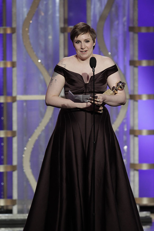 Description of . Best Actress in a Television Series - Comedy or Musical: Lena Dunham, Girls