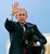 President Bush steps down from Air Force One, holding his dog Barney, at Andews Air Force Base, Md., as he arrives from a visit with soldiers at Ft. Hood, Texas, Tuesday, April 12, 2005. Bush left Washington for Rome on Wednesday and after the pope's funeral flew directly to Texas for a weekend at his ranch where he met with Israeli Prime Minister Ariel Sharon  Monday.  (AP Photo/J. Scott Applewhite)
