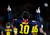 Barcelona's Lionel Messi celebrates his goal against Atletico de Madrid during their Spanish first division soccer match at Camp Nou stadium in Barcelona December 16, 2012.     REUTERS/Gustau Nacarino
