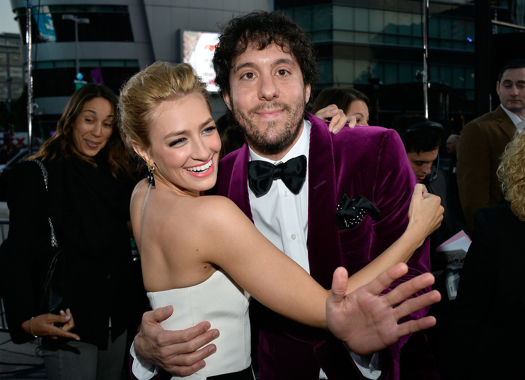 Description of . LOS ANGELES, CA - JANUARY 08:  Co-host Beth Behrs and actor Jonathan Kite attend The 40th Annual People's Choice Awards at Nokia Theatre L.A. Live on January 8, 2014 in Los Angeles, California.  (Photo by Frazer Harrison/Getty Images for The People's Choice Awards)