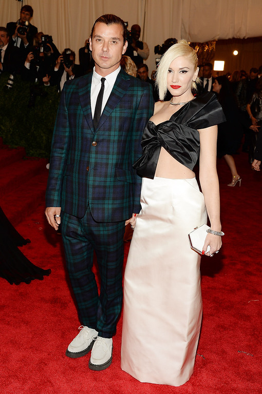 Description of . Gavin Rossdale and Gwen Stefani attend the Costume Institute Gala for the