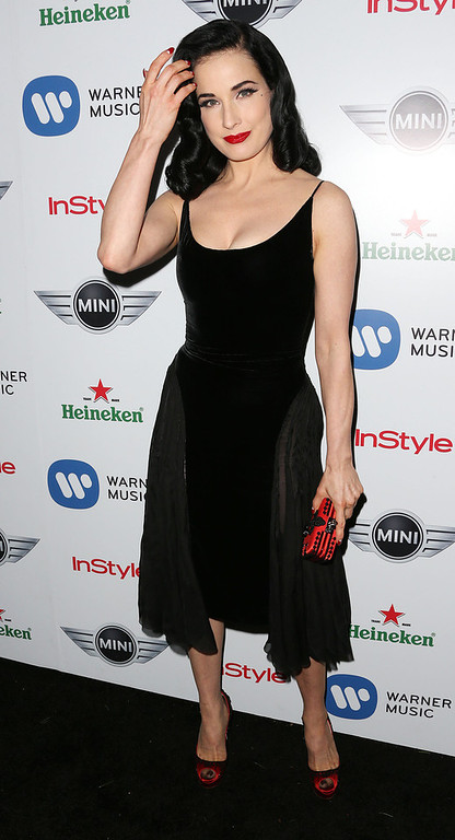 Description of . Dancer Dita Von Tesse attends Warner Music Group's 2013 Grammy Celebration at Chateau Marmont's Bar Marmont on February 10, 2013 in Hollywood, California.  (Photo by Frederick M. Brown/Getty Images)