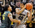 BOULDER, CO. - MARCH 7: Colorado center Josh Scott (40) looked for a way around Oregon center Tony Woods (55) in the first half. The University of Colorado men's basketball team hosted Oregon Thursday night, March 7, 2013 at the CU Events Center in Boulder. (Photo By Karl Gehring/The Denver Post)
