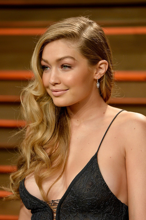 Description of . Model Gigi Hadid attends the 2014 Vanity Fair Oscar Party hosted by Graydon Carter on March 2, 2014 in West Hollywood, California.  (Photo by Pascal Le Segretain/Getty Images)