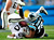 Nate Chandler #78 of the Carolina Panthers upends Rod Streater #80 of the Oakland Raiders during play at Bank of America Stadium on December 23, 2012 in Charlotte, North Carolina. Carolina defeated Oakland 17-6. (Photo by Grant Halverson/Getty Images)