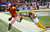Clemson wide receiver DeAndre Hopkins gets past LSU safety Eric Reid for a touchdown reception to cut the LSU lead to 24-22 in the fourth quarter of the Chick-fil-A NCAA college football game in Atlanta on Monday, Dec. 31, 2012. Clemson won 25-24. (AP Photo/Atlanta Journal & Constitution, Curtis Compton)