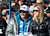 Bode Miller, U.S. alpine World Cup ski racer, watches the men's World Cup downhill ski race with his wife Morgan Beck in Beaver Creek, Colorado November 30, 2012. Miller is recovering from knee surgery and is not competing. REUTERS/Rick Wilking