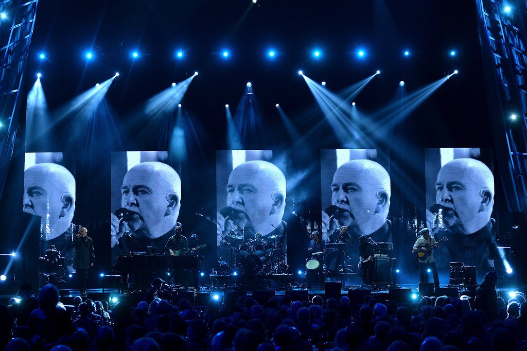 Description of . Inductee Peter Gabriel performs onstage at the 29th Annual Rock And Roll Hall Of Fame Induction Ceremony at Barclays Center of Brooklyn on April 10, 2014 in New York City.  (Photo by Larry Busacca/Getty Images)