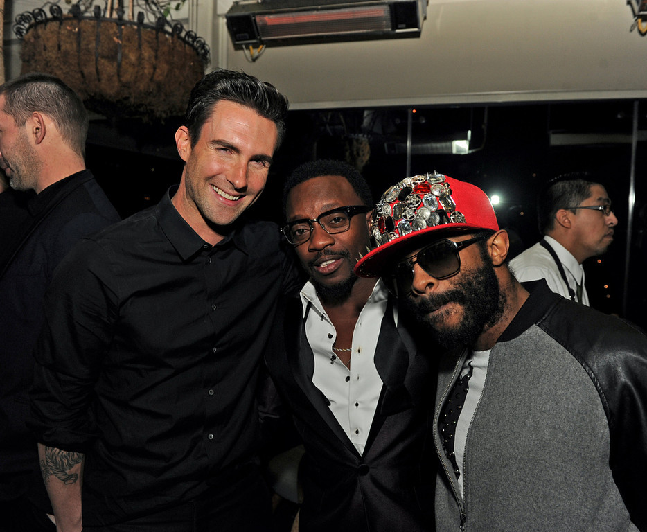 Description of . Adam Levin, Anthony Hamilton and E.D. Kane attend the Maroon 5 Grammy After Party & Adam Levine Fragrance Launch Event on February 10, 2013 in West Hollywood, California.  (Photo by Kevin Winter/Getty Images for PRESS HERE)