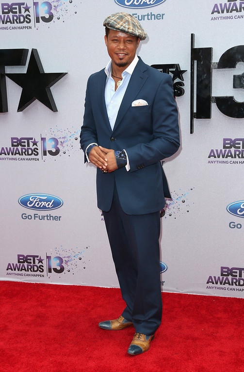 Description of . Actor Terrence Howard attends the 2013 BET Awards at Nokia Theatre L.A. Live on June 30, 2013 in Los Angeles, California.  (Photo by Frederick M. Brown/Getty Images for BET)