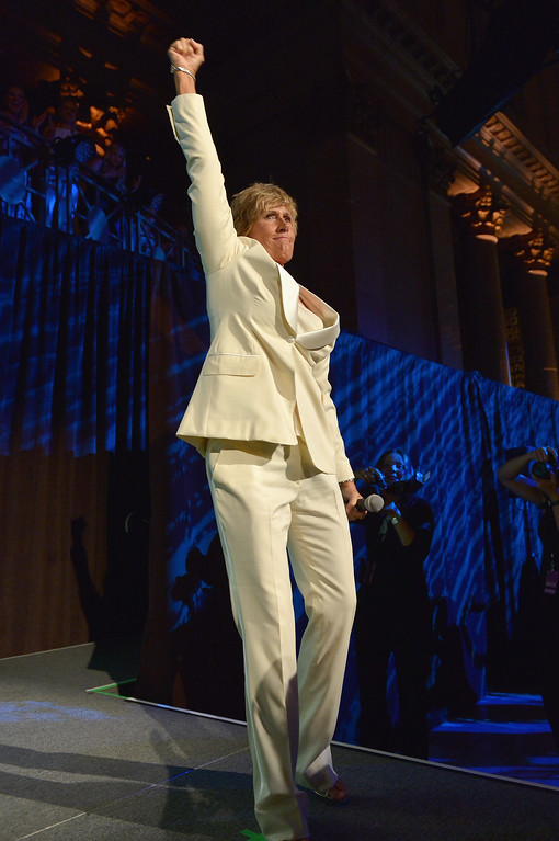 Description of . NEW YORK, NY - OCTOBER 16:  Long-distance swim legend Diana Nyad onstage during the 34th annual Salute to Women In Sports Awards at Cipriani, Wall Street on October 16, 2013 in New York City.  (Photo by Mike Coppola/Getty Images for the Women's Sports Foundation)