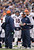 Denver Broncos quarterback Peyton Manning (18) talks with Broncos offensive coordinator Mike McCoy during a timeout against the Baltimore Ravens Sunday, December 16, 2012 at M&T Bank Stadium. John Leyba, The Denver Post