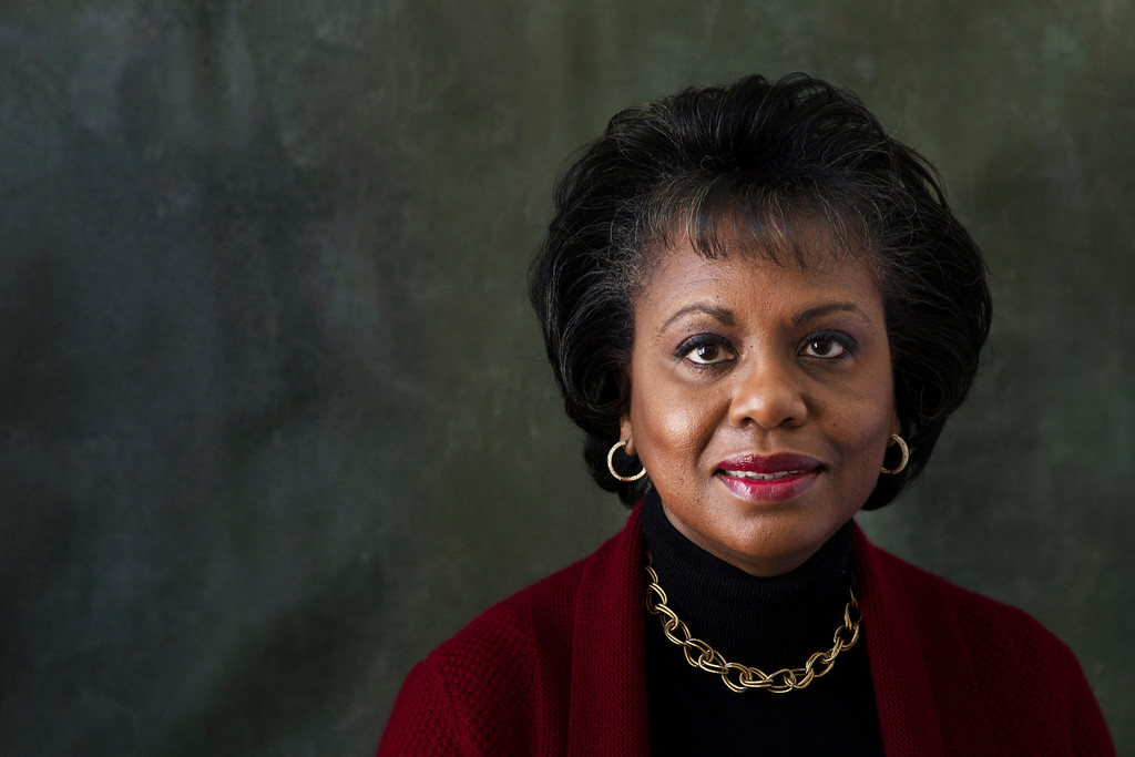 Description of . Anita Hill poses for a portrait during the Sundance Film Festival on Friday, Jan. 18, 2013, in Park City, Utah. Hill made national headlines in 1991 when she testified that then-Supreme Court nominee Clarence Thomas had sexually harassed her.  Now, more than 20 years later, director Freida Mock explores Hill's landmark testimony and the resulting social and political changes in the documentary