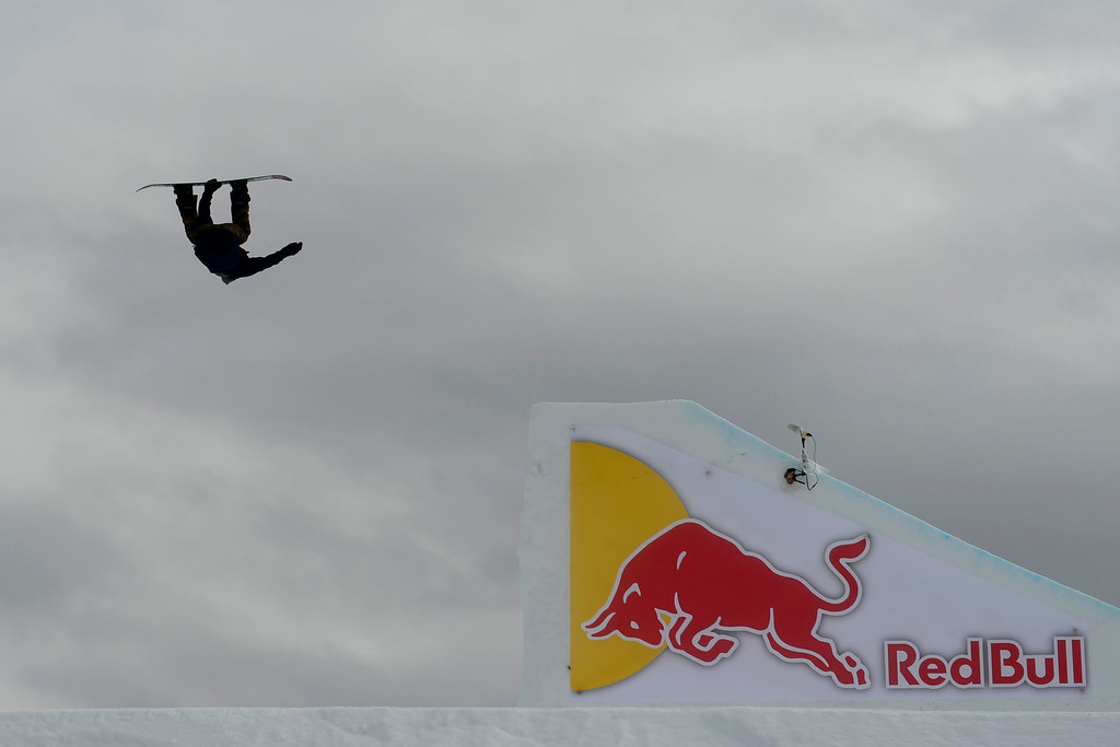 Description of . ASPEN, CO - JANUARY 26: Mark McMorris hits a jump during the men's snowboard slopestyle final. X Games Aspen Buettermilk Mountain Aspen January 26, 2013 (Photo By AAron Ontiveroz / The Denver Post)