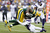Jermichael Finley #88 of the Green Bay Packers looks for extra yardage after catching a pass against the Minnesota Vikings during the game at Lambeau Field on December 2, 2012 in Green Bay, Wisconsin. The Packers won 23-14. (Photo by Joe Robbins/Getty Images)