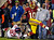 Washington Redskins quarterback Robert Griffin III (10) is pulled down by New York Giants strong safety Stevie Brown (27) during the second half of an NFL football game in Landover, Md., Monday, Dec. 3, 2012. (AP Photo/Evan Vucci)