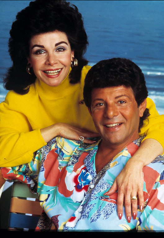 Description of . Annette Funicello and Frankie Avalon are seen in character in this 1987 publicity shot from the movie