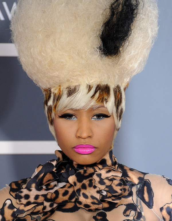Description of . Nicki Minaj attends the 53rd Annual GRAMMY Awards at the Staples Center, February 13, 2011 in Los Angeles, California. (Photo by fafotos/ep/PictureGroup) via AP IMAGES