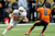 Jaxon Shipley #8 of the University of Texas Longhorns is pursued by Tyrequek Zimmerman #8 of the Oregon State Beavers during the Valero Alamo Bowl at the Alamodome on December 29, 2012 in San Antonio, Texas.  (Photo by Stacy Revere/Getty Images)