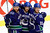 Vancouver Canucks' (L-R) Zack Kassian, Daniel Sedin and Henrik Sedin celebrate Kassian's goal against the Colorado Avalanche during the third period of their NHL hockey game in Vancouver, British Columbia January 30, 2013.   REUTERS/Ben Nelms