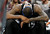 Sacramento Kings center DeMarcus Cousins hangs his head as the Kings fall behind by 30 points to the Denver Nuggets in the fourth quarter of the Nuggets' 121-93 victory in an NBA basketball game in Denver on Saturday, Jan. 26, 2013. (AP Photo/David Zalubowski)