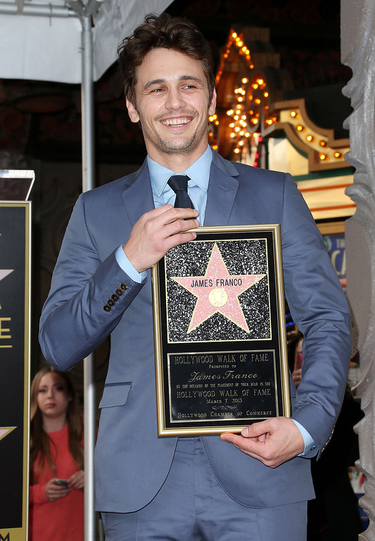Description of . Actor James Franco is honored on The Hollywood Walk Of Fame during the installation ceremony on March 7, 2013 in Hollywood, California.  (Photo by Frederick M. Brown/Getty Images)