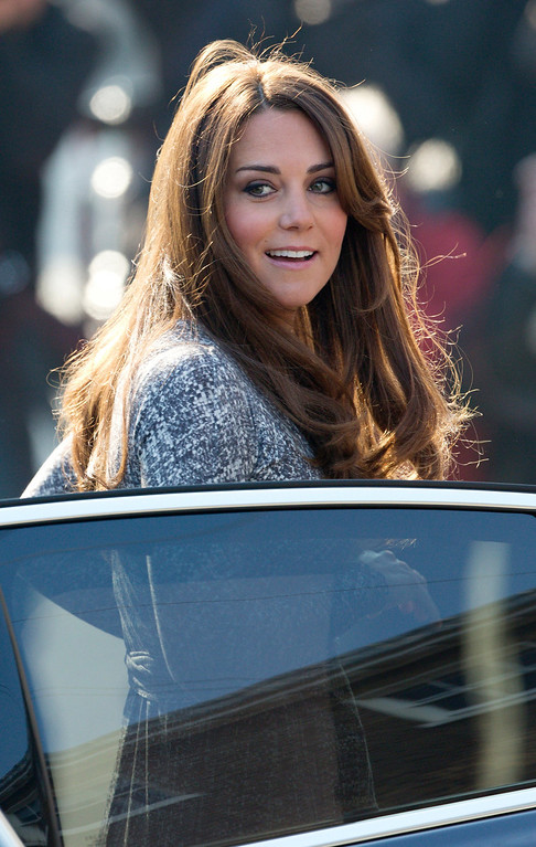 """Description of . Britain\'s Catherine, Duchess of Cambridge, arrives at the Hope House charity in south London on February 19, 2013. British novelist Hilary Mantel faced criticism after describing Prince William\'s wife Catherine as a \""""shop window mannequin\"""" with a \""""plastic smile\"""" whose only purpose is to breed.  ANDREW COWIE/AFP/Getty Images"""