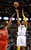 DENVER, CO. - JANUARY 30: Denver Nuggets shooting guard Andre Iguodala (9) takes a shot over Houston Rockets shooting guard James Harden (13) during the first quarter January 30, 2013 at Pepsi Center. The Denver Nuggets take on the Houston Rockets in NBA action. (Photo By John Leyba/The Denver Post)
