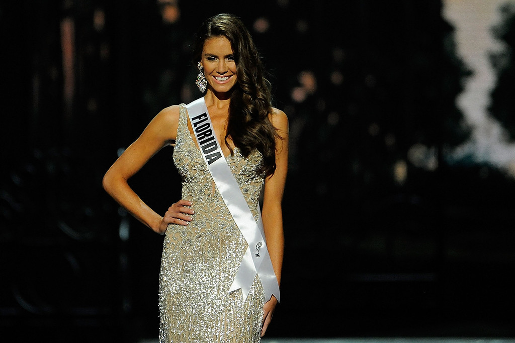 Description of . Miss Florida USA Brittany Oldehoff competes in the 2014 Miss USA Competition at The Baton Rouge River Center on June 8, 2014 in Baton Rouge, Louisiana.  (Photo by Stacy Revere/Getty Images)