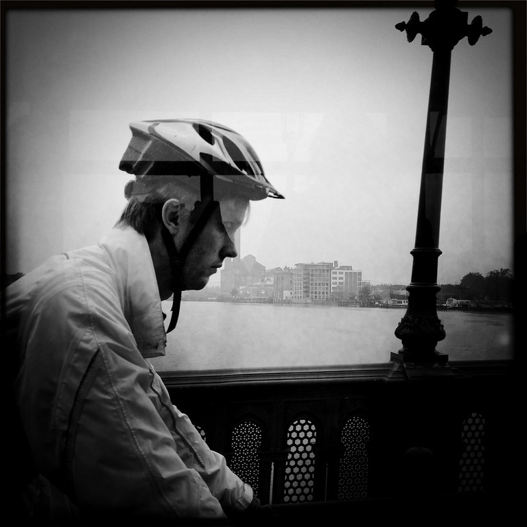 Description of . A cyclist is seen at Battersea Park on May 1, 2012 in London, England.  (Photo by Vittorio Zunino Celotto/Getty Images)