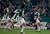 Barcelona's Lionel Messi (2nd R) is chased by Cordoba's players during their Spanish King's Cup soccer match at Nuevo Arcangel stadium in Cordoba December 12, 2012. REUTERS/Marcelo del Pozo