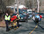 In this photo provided by the Newtown Bee, paramedics push stretchers toward Sandy Hook Elementary School in Newtown, Conn., where authorities say a gunman opened fire, killing 26 people, including 20 children, Friday, Dec. 14, 2012. (AP Photo/Newtown Bee, Shannon Hicks)